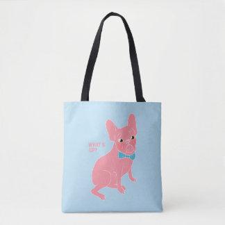 ピンクのFrenchie -何がありますか。 トートバッグ