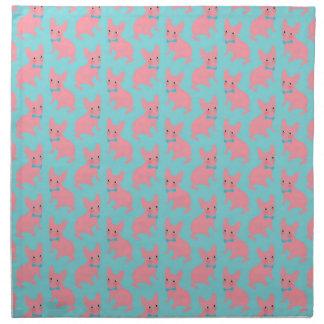 ピンクのFrenchie -何がありますか。 ナプキンクロス