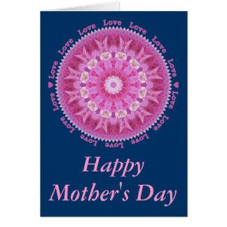 ピンクのHollyhockの星が付いている母の日カード カード