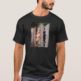 ピンクのHollyhock Tシャツ