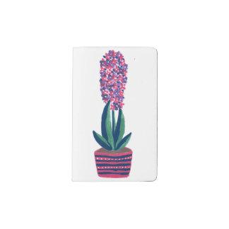 ピンクのHyacinth ポケットMoleskineノートブック