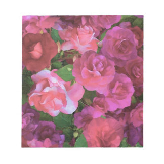 ピンクのImpatiensのメモパッド ノートパッド