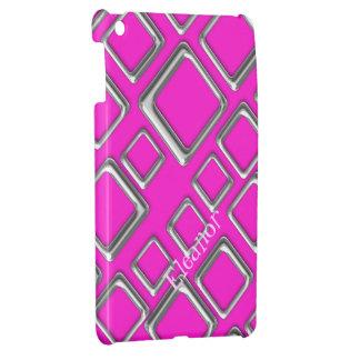 ピンクのiPad Miniケースのテンプレートの銀製の正方形 iPad Miniケース