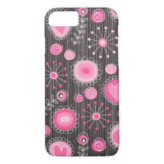 ピンクのiPhone 7の場合のお洒落な花 iPhone 8/7ケース