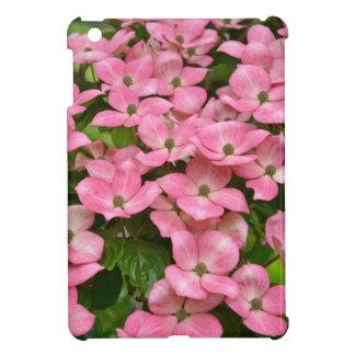 ピンクのkousaのミズキの花のプリント iPad miniカバー