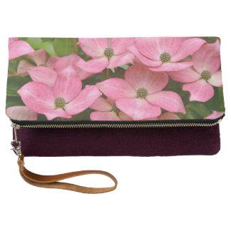 ピンクのkousaのミズキの花 クラッチバッグ