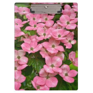 ピンクのkousaのミズキの花 クリップボード