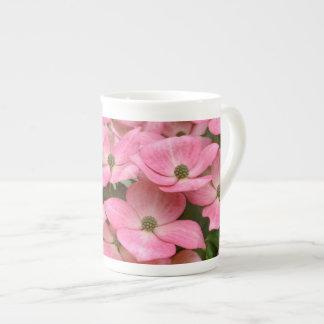 ピンクのkousaのミズキの花 ボーンチャイナカップ