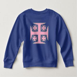 ピンクのKross™の幼児のフリースのスエットシャツ スウェットシャツ
