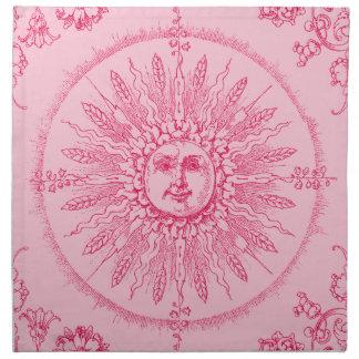 ピンクのLemonaideの日光のテーブルナプキン ナプキンクロス