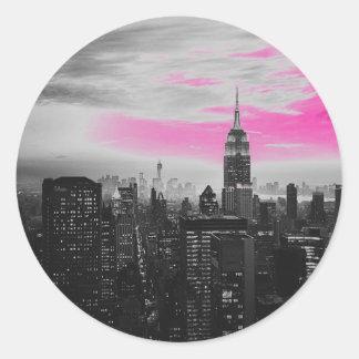 ピンクのny.jpg ラウンドシール