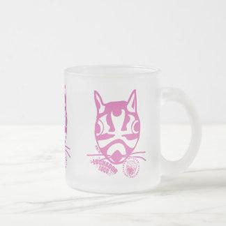 ピンクのPaco フロストグラスマグカップ