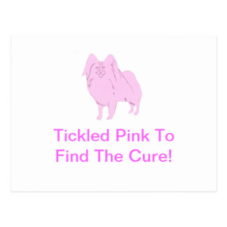 ピンクのPapillon ポストカード