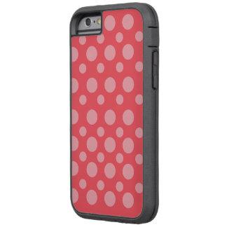 ピンクのPolcadot Iの電話6箱 Tough Xtreme iPhone 6 ケース