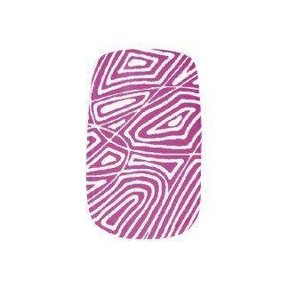 ピンクのScribbleprints ネイルアート