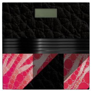 ピンクのSherbertのシマウマの抽象芸術 体重計