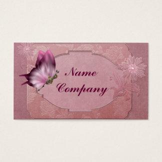 ピンクのSteampunkの蝶 名刺