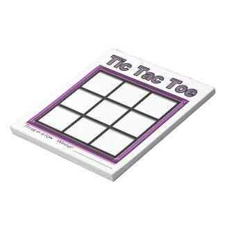ピンクのTic TACのつま先のゲームのメモ帳 ノートパッド