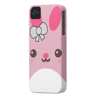ピンクのUsagiのバニーウサギ Case-Mate iPhone 4 ケース
