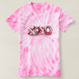 ピンクのxoxoのおもしろいのワイシャツ tシャツ