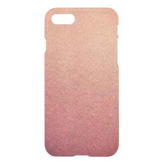 ピンクのYarrowのグラデーションなグリッターの砂の一見 iPhone 8/7 ケース