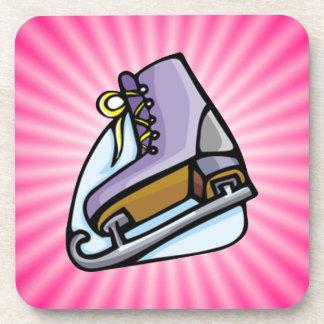 ピンクはアイススケートします コースター
