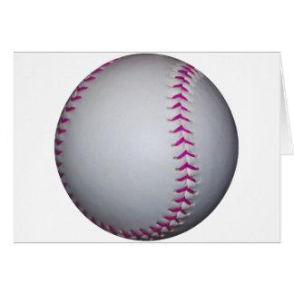 ピンクはソフトボールをステッチします カード