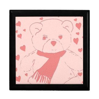 ピンクはテディー・ベア愛にある調子を与えました ギフトボックス
