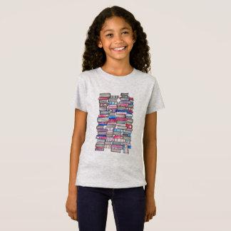 ピンクは女の子のティーを予約します Tシャツ