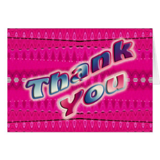 ピンクは感謝していしています カード