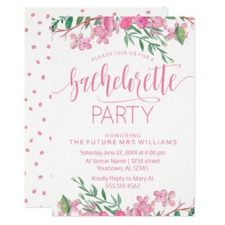 ピンクは招待状バチェロレッテの活気付きます カード