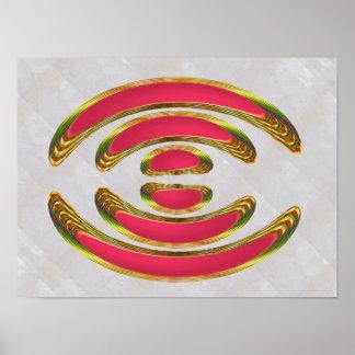 ピンクは腕輪の衣裳楕円形ディスク装飾に接吻します ポスター