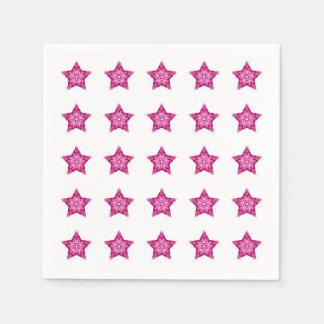 ピンクは誕生日を主演します スタンダードカクテルナプキン