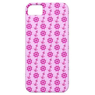 ピンクは車輪およびいかりを出荷します iPhone SE/5/5s ケース