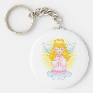 ピンクを祈る天使 キーホルダー