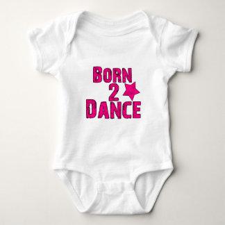 ピンクを踊るために生まれて下さい ベビーボディスーツ