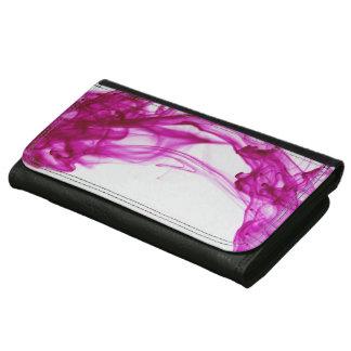 ピンクインク低下の写真撮影の革財布 レザーウォレット