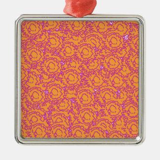 ピンククールでかわいくガーリーな渦巻およびオレンジSWIRLS08 メタルオーナメント