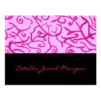 ピンクスクロール ポストカード