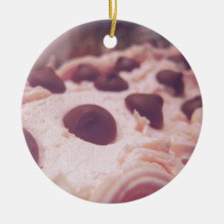ピンクチョコレート菓子の写真 セラミックオーナメント