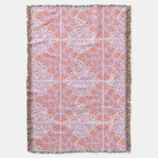 ピンクバラの毛布 スローブランケット