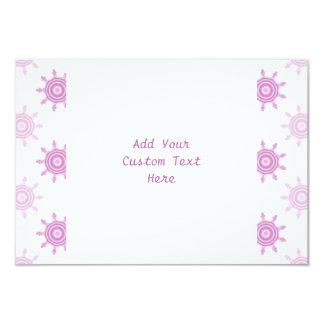 ピンクパターン。 フラクタルの円 カード