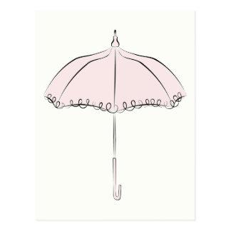 ピンクパラソル ポストカード