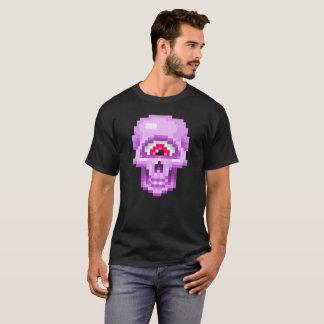 ピンクピクセルシクロプススカル Tシャツ