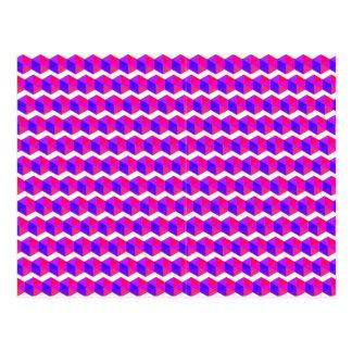 ピンクピクセルパターン ポストカード