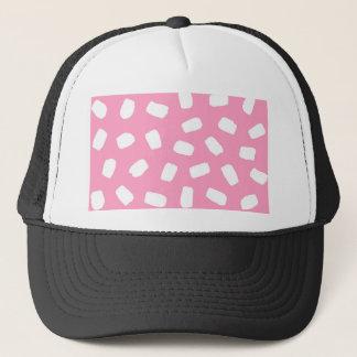 ピンクブラシストローク キャップ