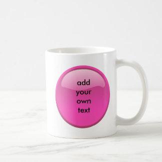 ピンクボタン コーヒーマグカップ