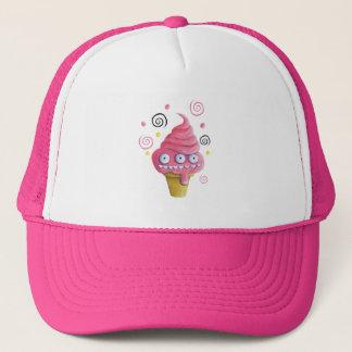 ピンクモンスターのアイスクリームコーン キャップ