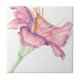 ピンクユリのイースター花の写真のタイル タイル