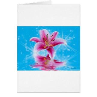 ピンクユリの輝き カード